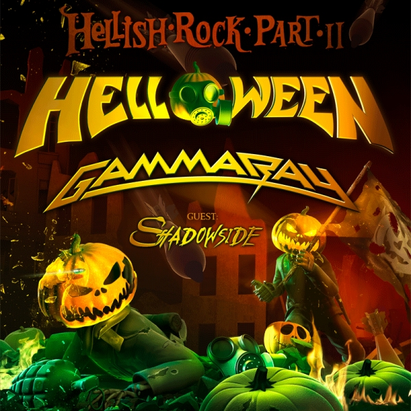 Helloween Gamma Ray Support Shadowside Hellish Rock Tour Part Ii